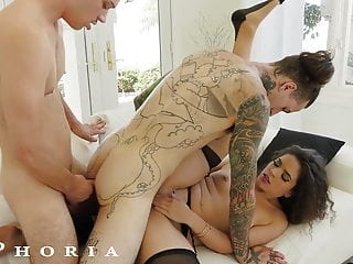 BiPhoria - Wife Catches Husband With Male Lover anal blowjob hardcore video