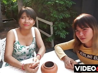 Two young Asian girls fucked in Thailand asian blowjob hairy video
