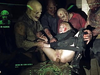 HORRORPORN Zombie anal blowjob mature video