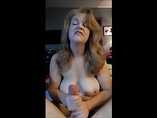 Mature Wife Gives A Dirty Talking Handjob mature handjob cuckold video