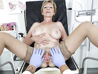 hairy 71 years old mom pov fucked by her doctor hairy mature handjob video