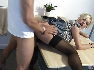 Black Stockings & Heels, MICHELLE THORNE Gets Hard Fucking blonde hardcore stockings video