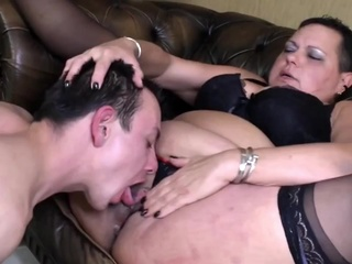 Viona W III - And Her Toyboy gilf granny shaved video