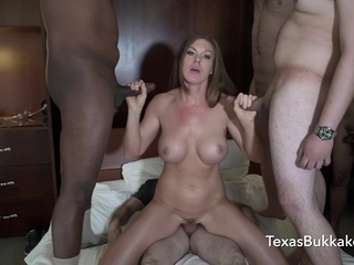 TexasBukkake - Ivy Secrets 22-Man Gangbang & Bukkake big tits brunette bukkake video